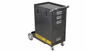 Welding Storage Cabinet Push Rolling Cart 3 Shelves Organizer MIG ...