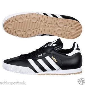 Adidas originali nuovi uomini e samba super pelle nera di moda
