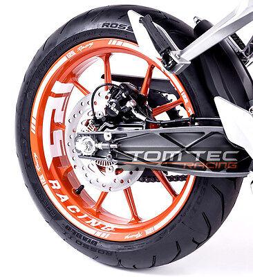 Felgenaufkleber Dekor Ktm Duke Rc 125 200 250 390 Wheel Sticker- Tomtec-racing®