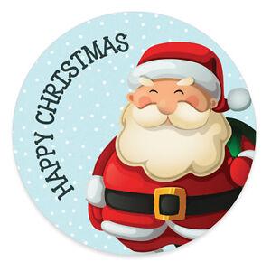 Santa Present Sticker Merry Happy Father Christmas Xmas Gift Label ...