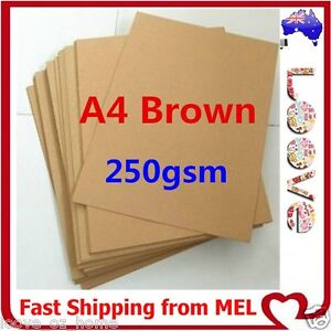 Details about 20x A4 250GSM Brown Kraft Thick Paper Sheet Natural Recycled  Invitation Wedding