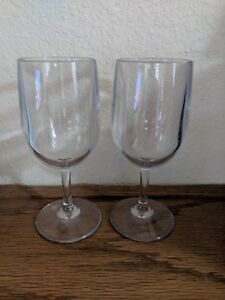 Polycarbonite 8 Oz Wine Glasses Bulk Everyday Birthday Wedding Clear
