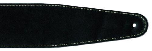 Sehr edler Gitarren Ledergurt schwarz//weiße Naht aus Echtleder 125-155 cm Länge