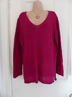 Boden size XL medium quite loose knit dark red/pinky purple jumper