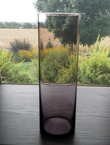 """LIBBEY Amethyst Purple Glass 10 1//2/"""" Cylinder Flower Floral Vase"""