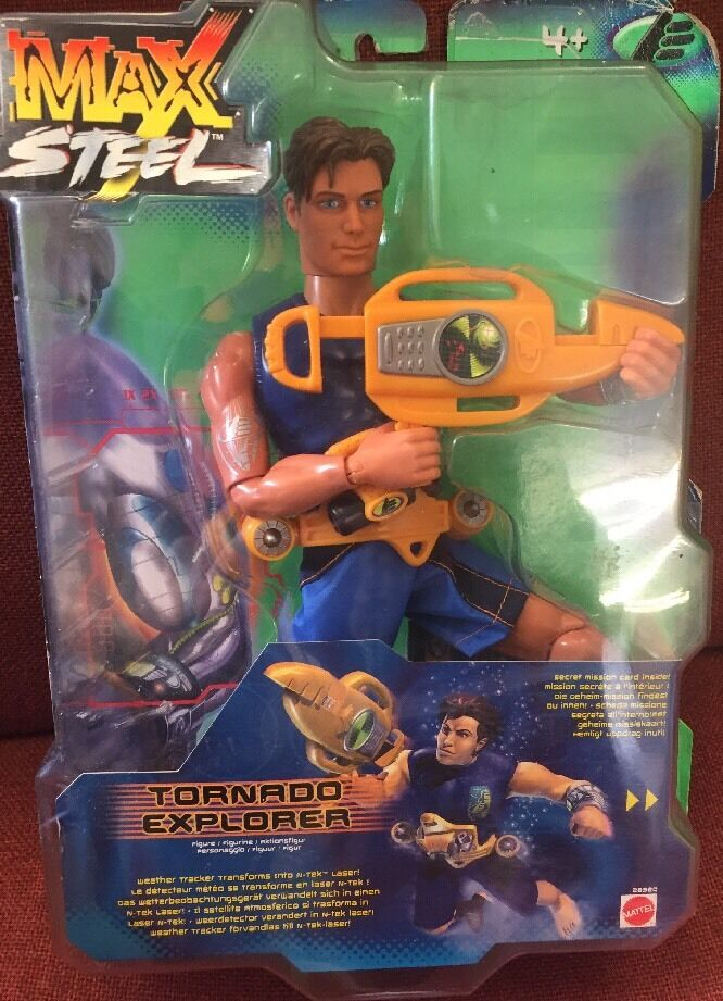 Very Rare Max Steel Tornado Explorer super action figure Mattel 28920 New In Box