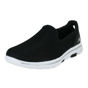 innovative design ca85c c2994 Details zu SKECHERS GO WALK 5 BLACK WHITE 15901 BKW WOMENS US SIZES