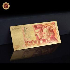 WR-1000-Deutsche-Mark-Gold-Banknote-24-Karat-999-Geldschein-Farbexstrakte