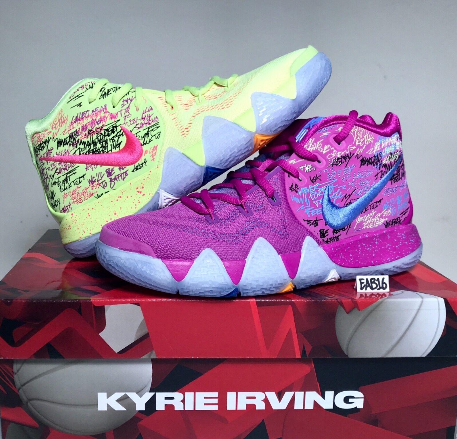 Nike kyrie irving 4 iv coriandoli viola e giallo multi - colore Uomo gs figli maschi