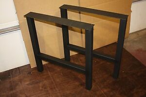 Image Is Loading H Frame Style Metal Table Desk Or Bench
