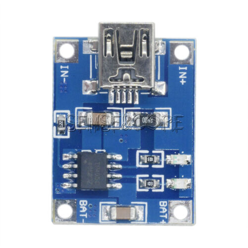 2//5//10PCS 5V 1A Mini//Micro USB 18650 Lithium Battery Charger Board Module TP4056