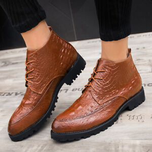 mens business dress formal leather ankle boots business