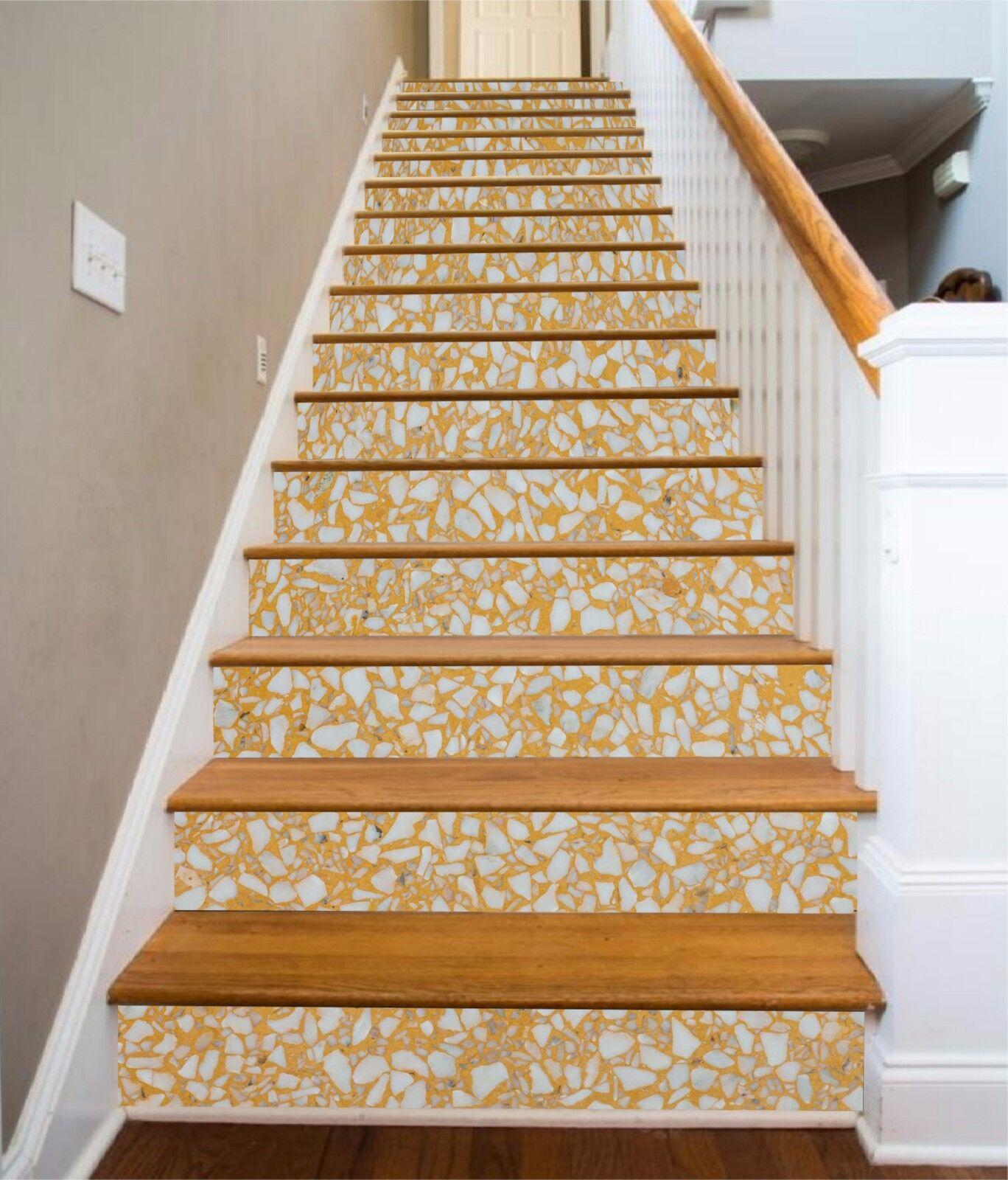 3D Terrazzo Floor 6 Stair Risers Decoration Photo Mural Vinyl Decal WandPapier UK