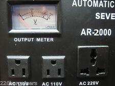 2000W Worldwide Voltage Converter Stabilizer Convert 110 220 Volt Transformer