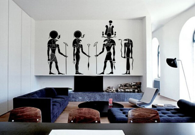 ik1002 Wall Decal Sticker egyptian gods ra sekhmet khensu amon living bedroom