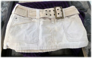 Vintage (1966-1972) Abercrombie And Fitch Corduroy Micro Mini Skirt W. Belt MOD!