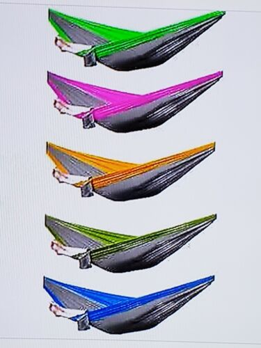 Portable Person Camping Travel Parachute Nylon Hammock Swing Bed Outdoor