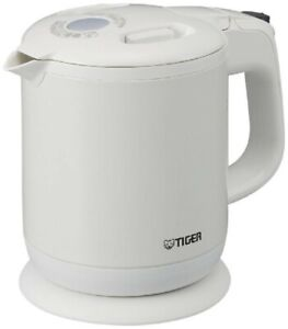 Details about TIGER Electric Kettle 600ml Pearl White Steamless Wrinkled PCH G060 WP