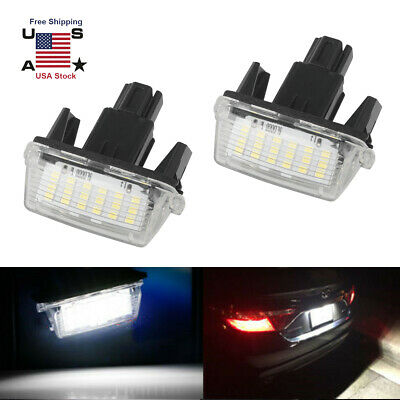 2x Toyota Prius ZVW30 Bright Xenon White 8SMD LED Canbus Number Plate Bulbs