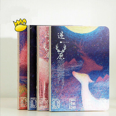 """Mystery Deer"" 1pc Cute Blank Papers Sketchbook Notebook Diary Journal Planner"