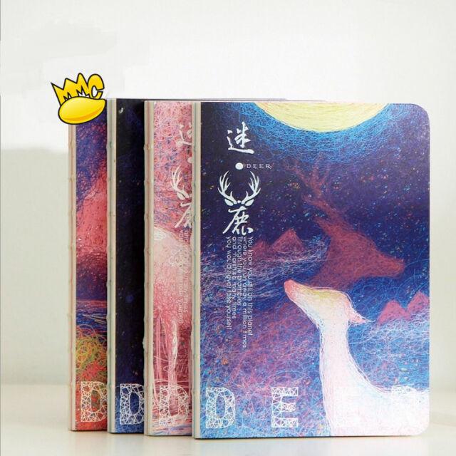 """""""Mystery Deer"""" 1pc Cute Blank Papers Sketchbook Notebook Diary Journal Planner"""