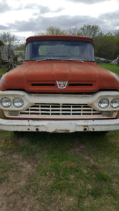 3/4 ton 1960 F250 red truck