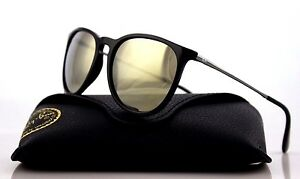 e25d7c19e5 Image is loading RARE-Genuine-Ray-Ban-ERIKA-Black-Gunmetal-Gold-