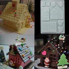Weihnachtshaus Silikon Tortendeko DIY Mold Backen Kuchen Marzipan Fondant Dekor
