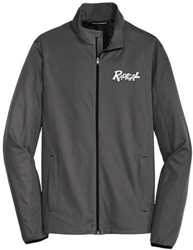 Radical Men/'s Attack Active Soft Shell Jacket Bowling Shirt Steel Grey