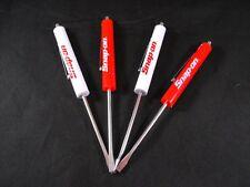 FOUR NEW *ORIGINAL* Snap on Tools FLAT TIP MAGNETIC END POCKET SCREWDRIVER SET
