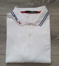Men's White Ralph Lauren RLX Short Sleeve Golf Polo Size Medium