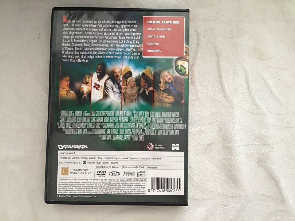 Scary Movie 4, DVD, andet