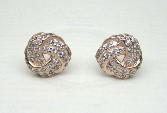 d56071bb5 ... where can i buy authentic pandora 280696cz sparkling love knot stud  earrings rose collection a06ae 1f5e9