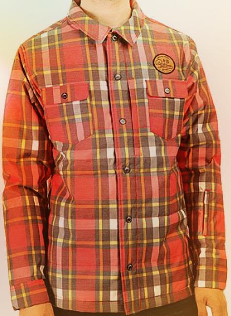 Picture Organic Clothing Ridingo Snowshirt Herren rot plaid  Gr. M NEU