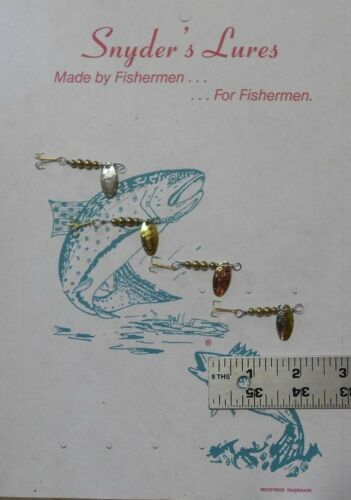 4 Snyder/'s Swiss Swing Style  Fishing Lures #0  Solid Brass Beads