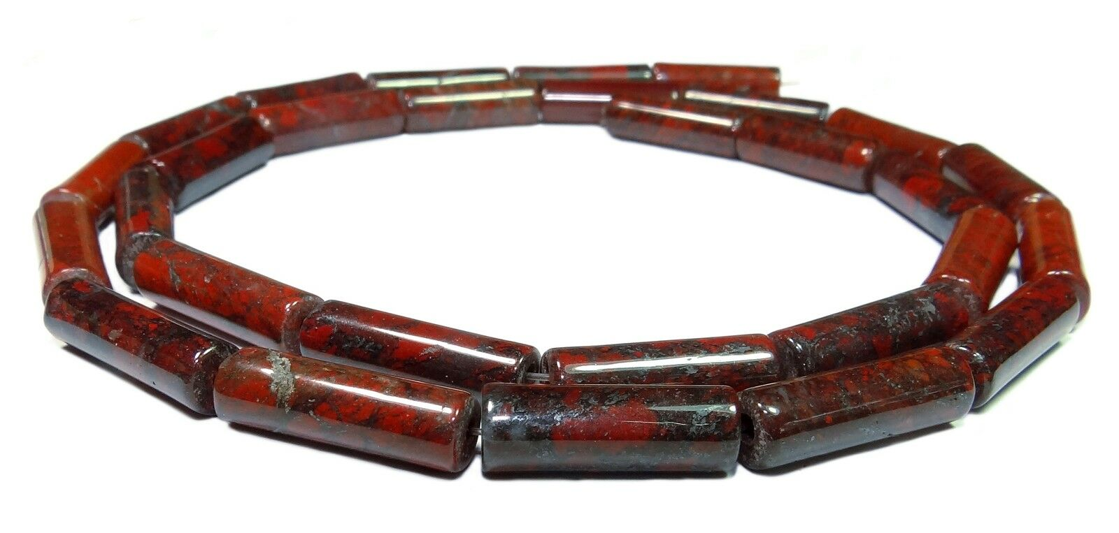 1 Strang Muschelkern Perles Ruby 6 mm