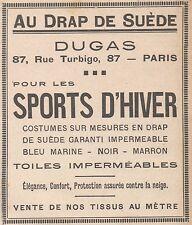 Z9160 DUGAS pour les Sports d'Hiver -  Pubblicità d'epoca - 1929 Old advertising