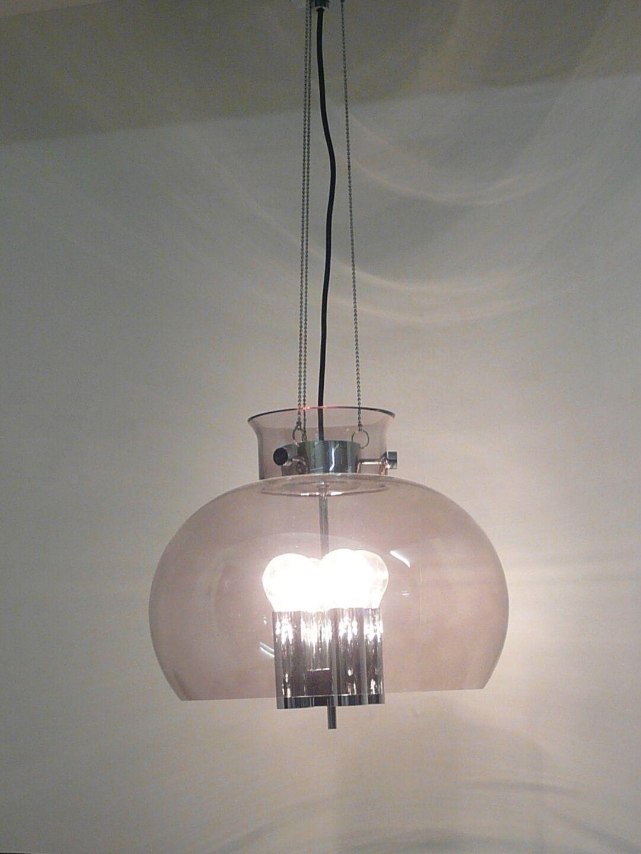 Glashütte LIMBURG pendant ceiling lamp  fixture, glass - chrome