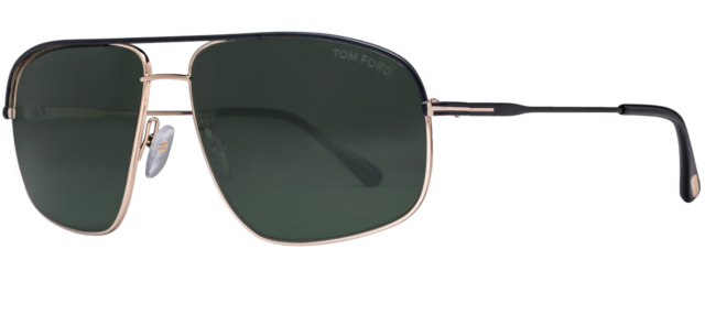 46db088c1f4a4 Authentic TOM FORD 0467 - 02N Sunglasses Matte Black  Green  NEW  60mm