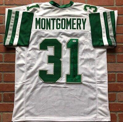 Autographed//Signed Wilbert Montgomery Inscribed Philadelphia White Football Jersey PSA//DNA COA