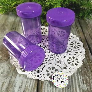 18-Pill-Bottles-PURPLE-JARS-Purple-CAPS-LID-Event-Party-Favor-4314-DecoJars