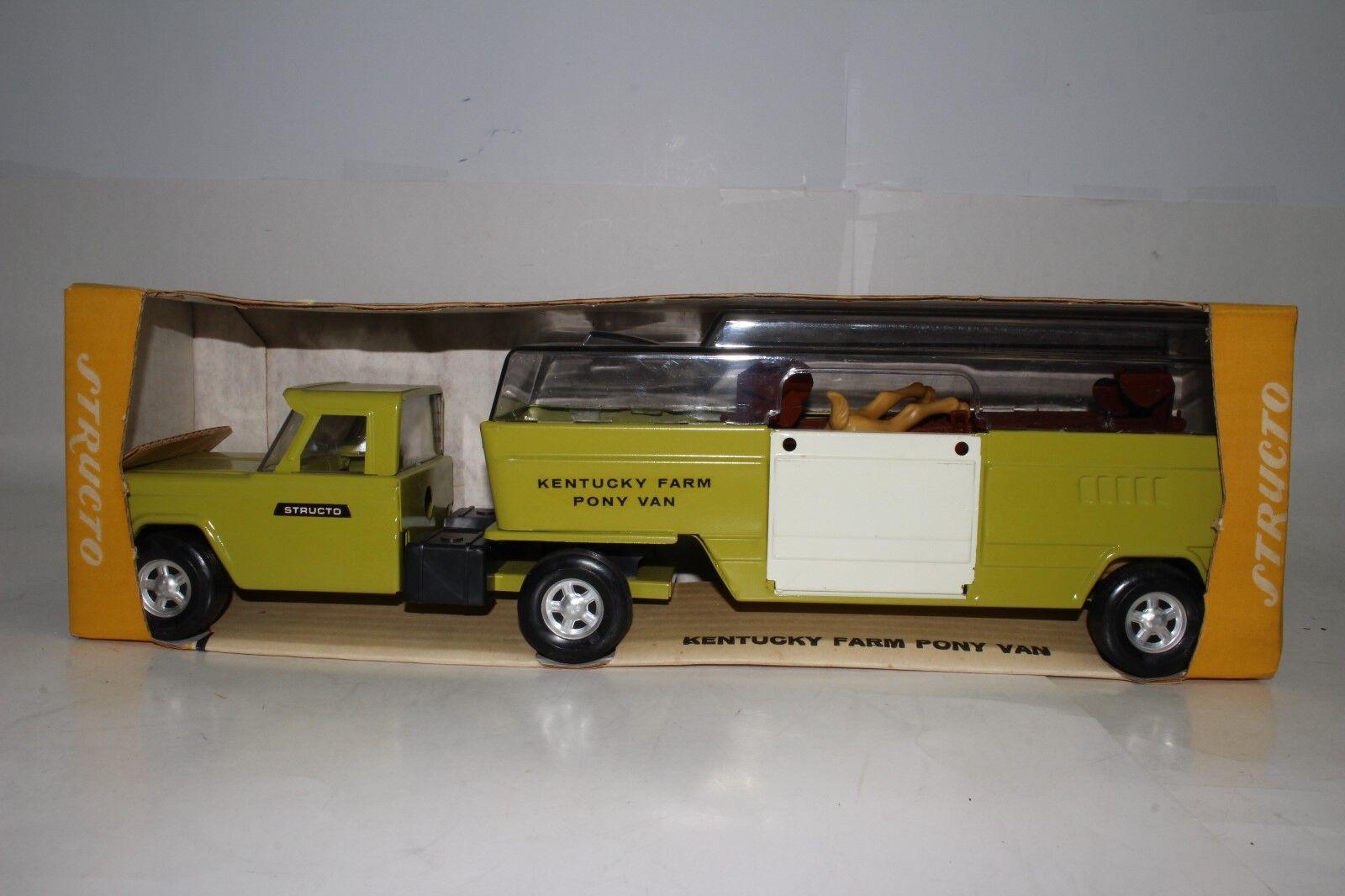 597ms Structo Kentucky Caballo de Granja Semi Camión con Caja y Accesorios,