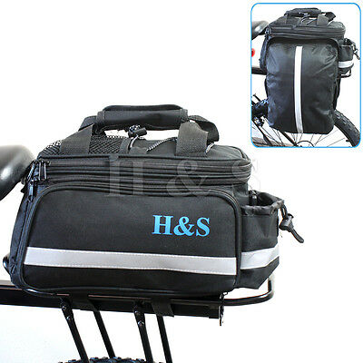 Top Quality Mountain Cycle Bike Bicycle Pannier Saddle Rear Rack Travel Bag Pack