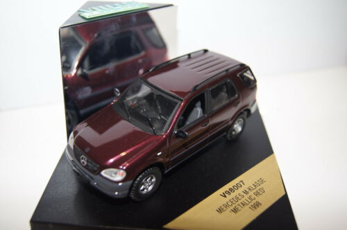 Mercedes clase m 1998 rojo metalizado 1:43 vitesse nuevo con embalaje original v98007