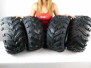 Set-of-4-NEW-MASSFX-Claw-26x9-12-Front-26x11-12-Rear-ATV-Tires-Bear-K299-6ply