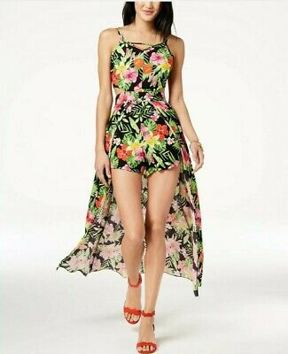 The Edit By Seventeen Juniors Floral-Print Maxi Romper,