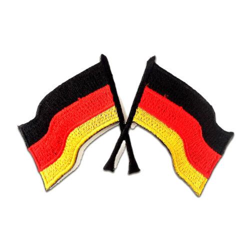 Aufnäher // Bügelbild Racing Flagge Fahne schwarz 9,8 x 7,2 cm Patches