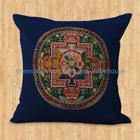 Us Seller- Cushion Cover Tibetan Buddhism Mandala Cushion Pillow Covers