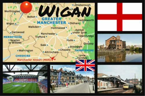 Wigan Souvenir Neuheit Kühlschrank-magnet Greater Manchester