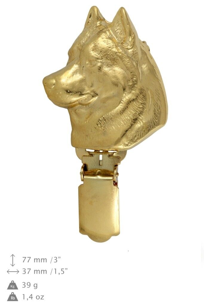 Siberian Husky - clip, oro covered clipring with dog, high quality, Art Dog